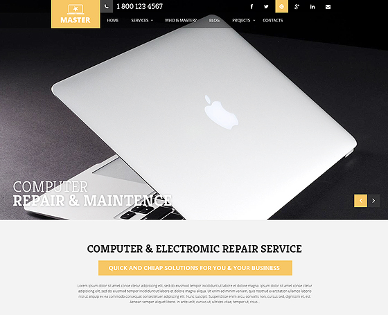 PC Repair Service wordpress theme