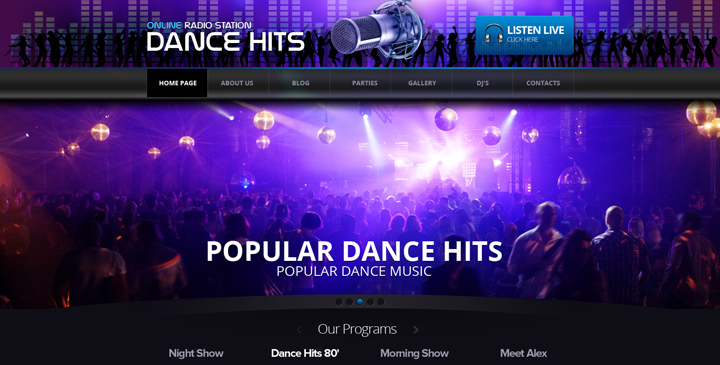 Wordpress Radio Station Online Radio Template Gridgum