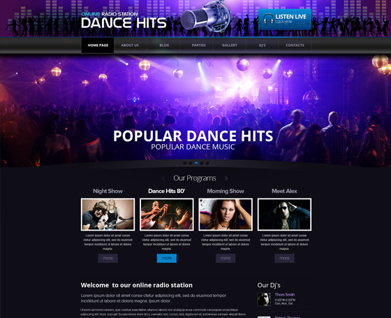 Online Radio Station Wordpress theme
