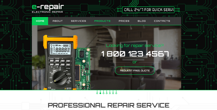 wordpress computer repair theme