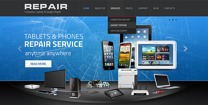 Gadget Repair service wordpress responsive template