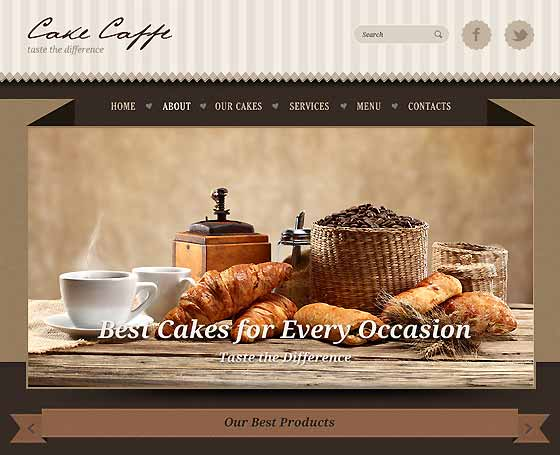 Cake cafe bootstrap template