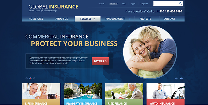 Insurance website template