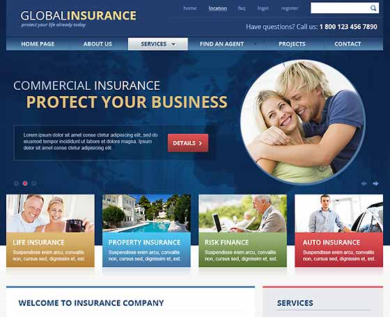 Global Insurance - bootstrap theme