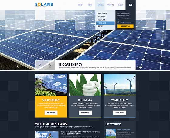 Alternative energy wordpress theme