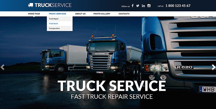 truck service responsive joomla template theme gridgum
