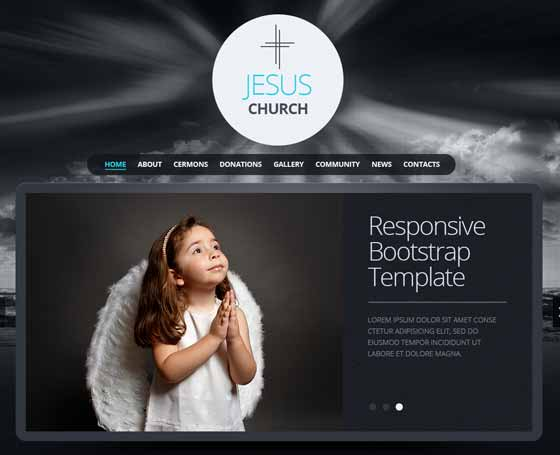 Christian church responsive bootstrap