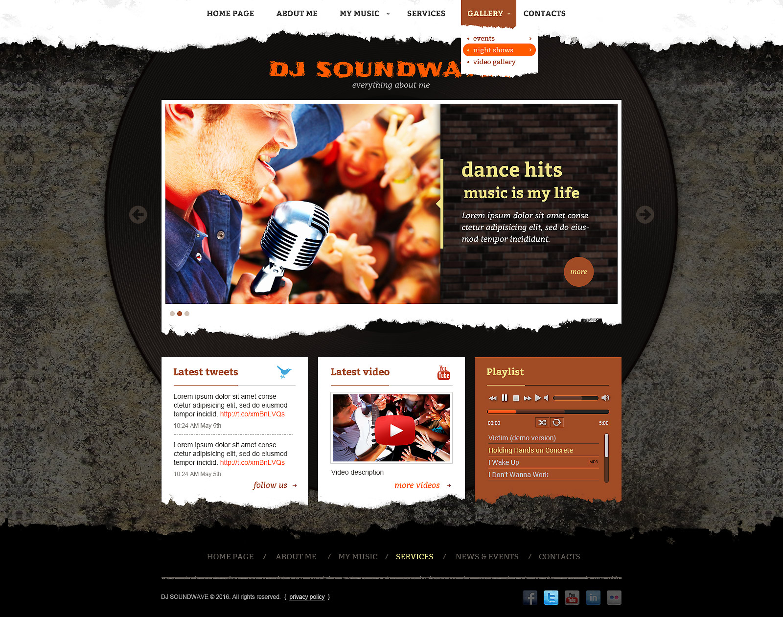 DJ Music bootstrap template (theme)