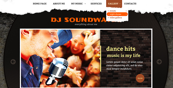 DJ Sound waves free HTML template