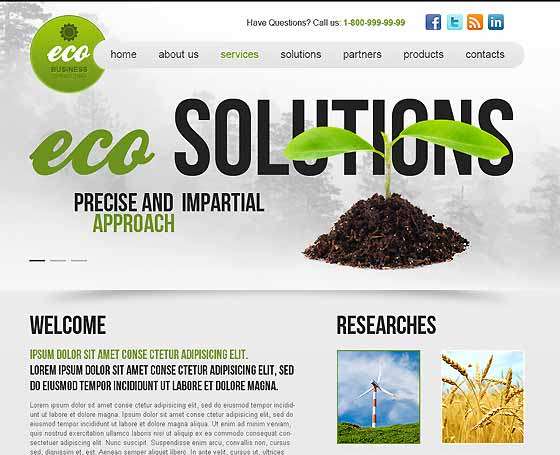 Ecology - wordpress responsive theme