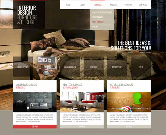 Interior Design Themes And Templates Gridgum Amazing Interior Design Web Templates