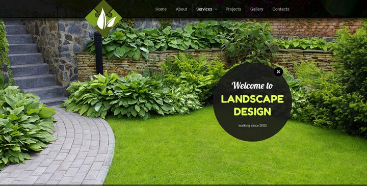 Landscapes design bootstrap theme (template)   Gridgum