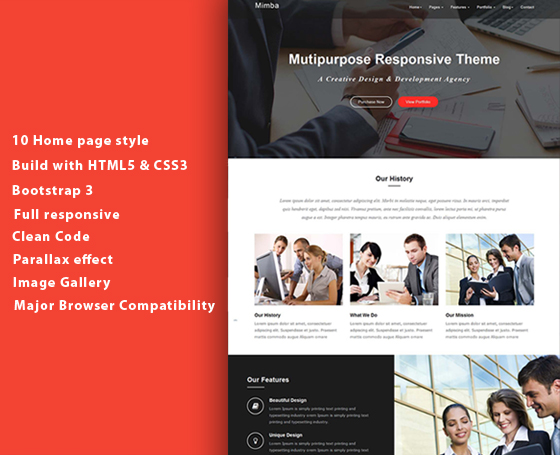 Mimba - Multipurpose Template