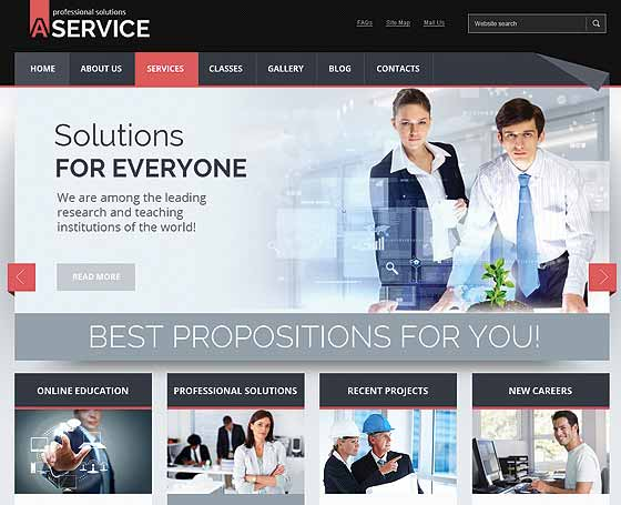 Professional solution Joomla template