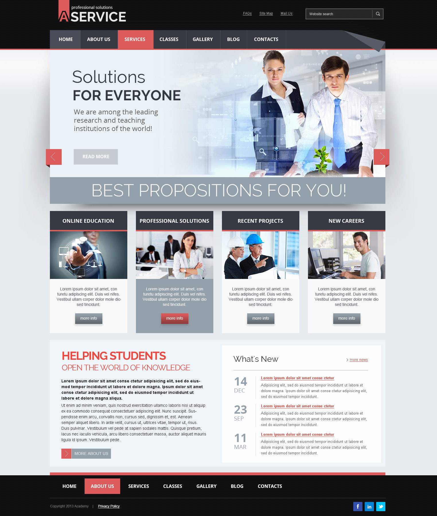 Professional solution Joomla responsive template (theme)