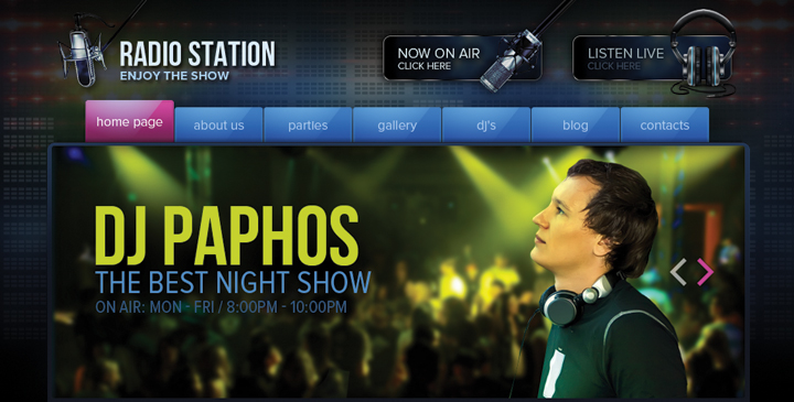 DJ Radio station wordpress theme