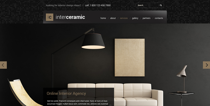 interior website template