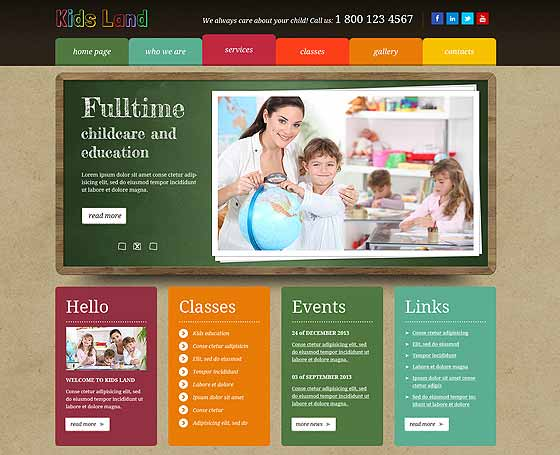 Kids bootstrap template