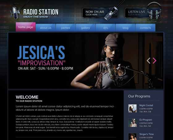 DJ Website Templates Gridgum - Dj website templates