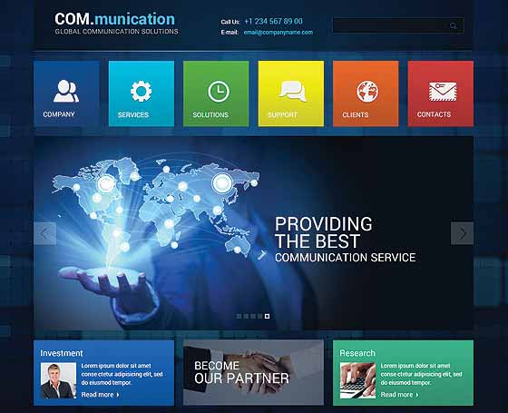 Communication Wordpress responsive theme