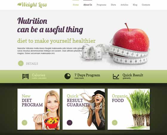 Weight loss joomla responsive template