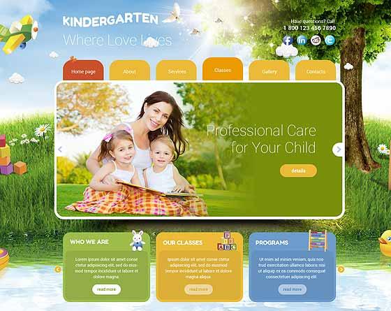 8 best preschool website design gridgum