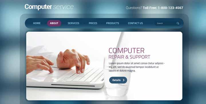 computer service bootstrap theme