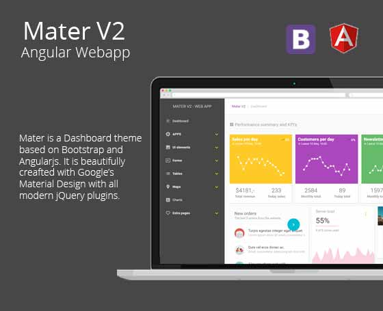 Mater V2 - Angular Dashboard & Admin