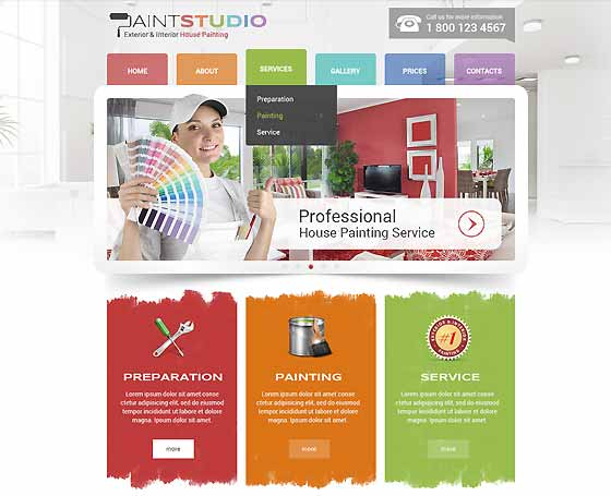 House Painting bootstrap theme