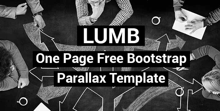 Lumb - one page free bootstrap theme