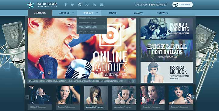 Radio station wordpress