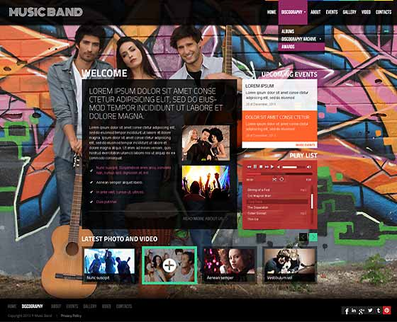 Music Band - HTML bootstrap template