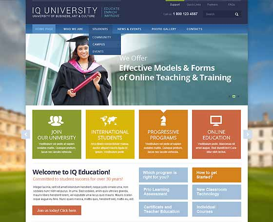 IQ University bootstrap template