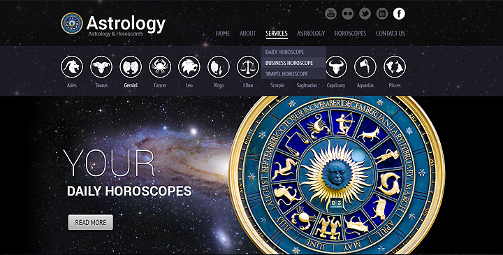 Astrology WordPress Template