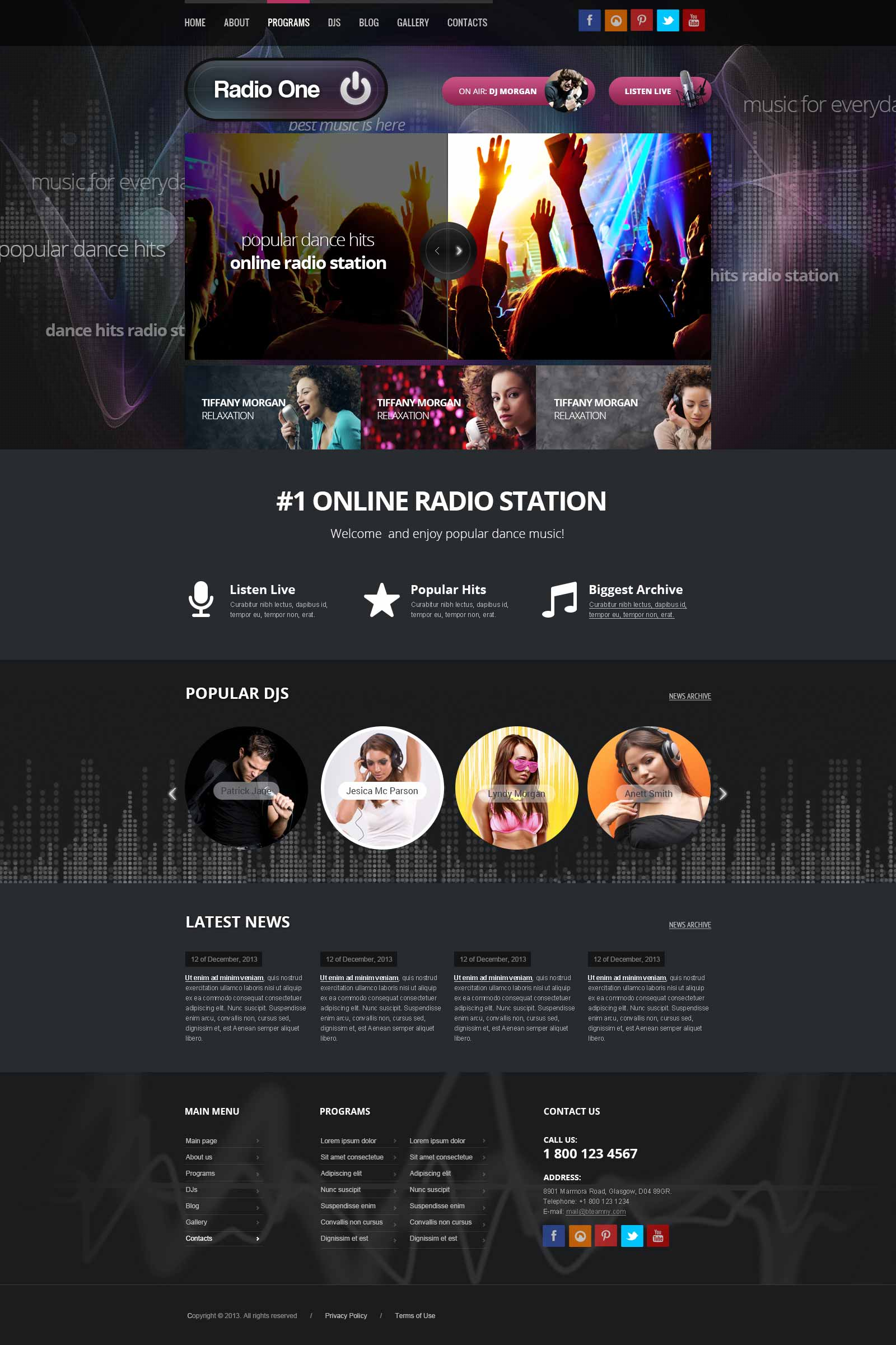 Wordpress Radio Station Theme | Gridgum