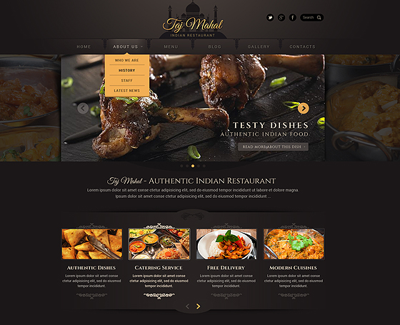 Restaurant Template Wordpress Gridgum - Restaurant template wordpress