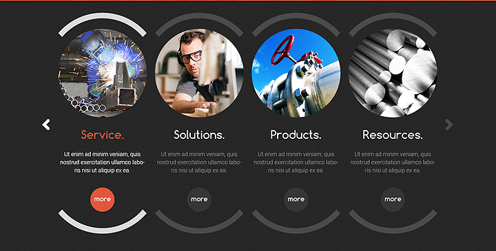 industrial bootstrap template