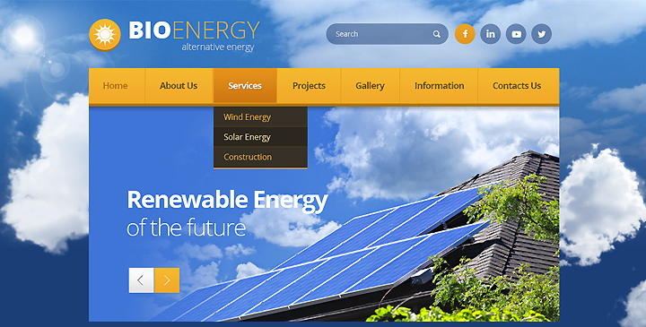renewable energy website template