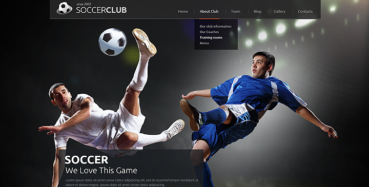 Football Wordpress Theme Sport Website Template Gridgum
