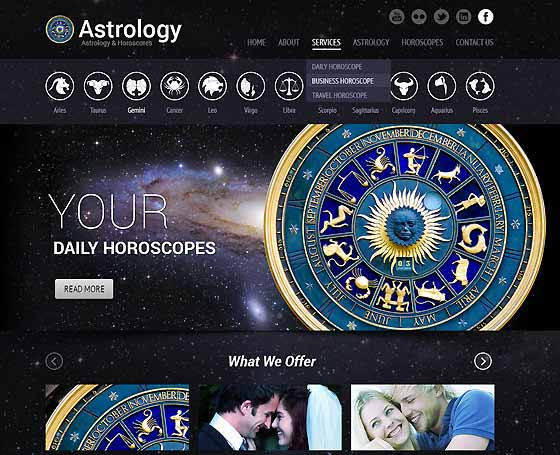 Astrology & Horoscope template