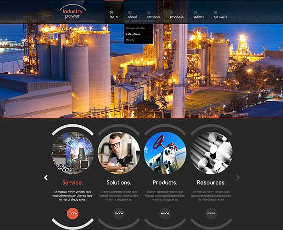 industrial website template