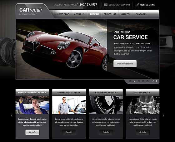 auto repair templates themes gridgum