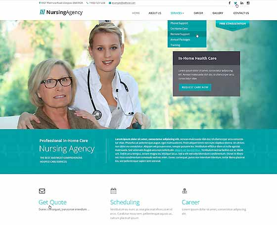 healthcare bootstrap template  Healthcare website templates | Gridgum