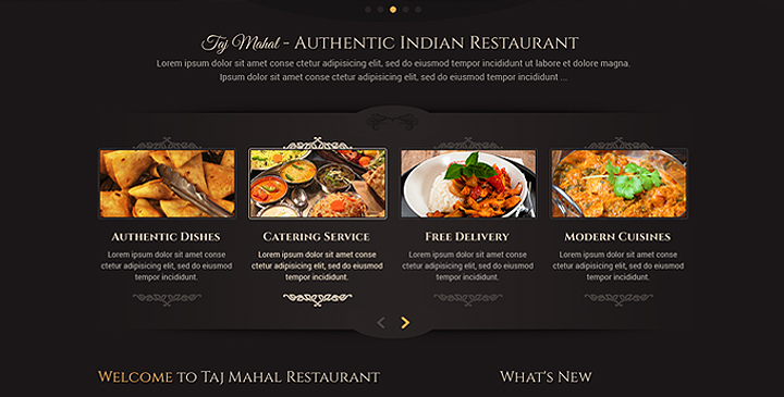 wordpress template restaurant