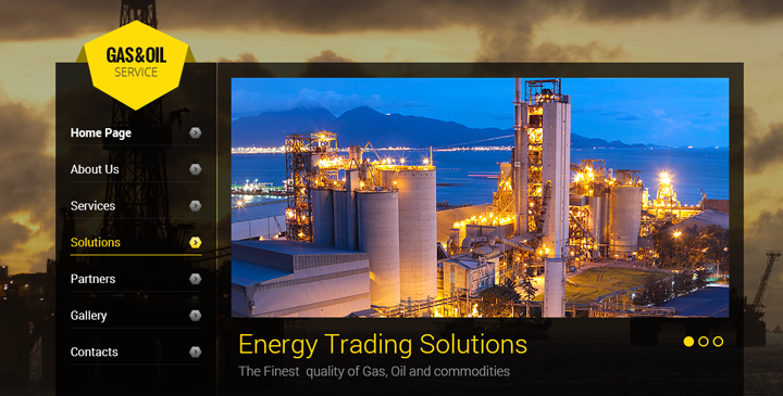 oil website template
