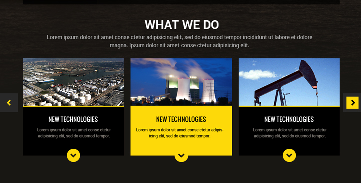 oil and gas template