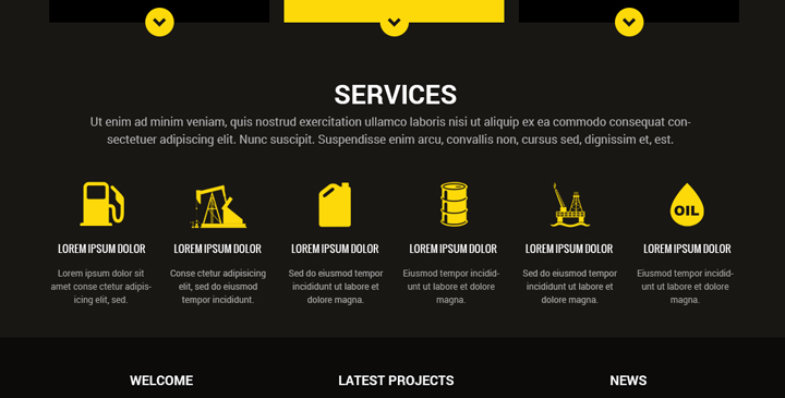 industry website template
