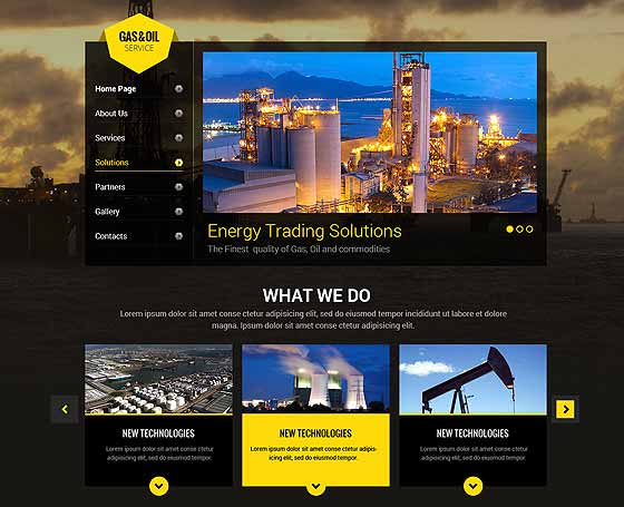 oil and gas website template