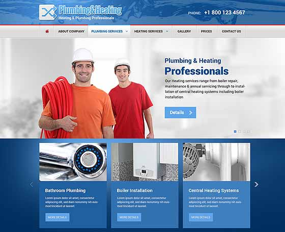 Plumbing bootstrap template