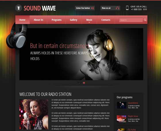 radio website template
